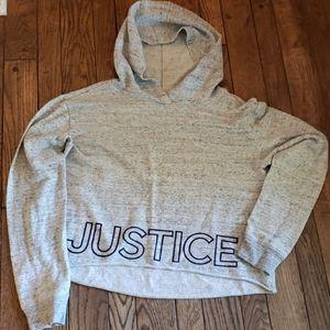 Justice hi low cropped hoodie